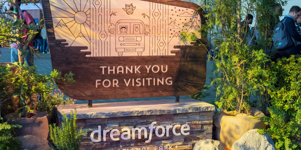 Dreamforce 2018 Thank You for Visiting sign